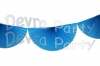Turquoise 10 Foot Bunting Fan Garland (12 pcs)