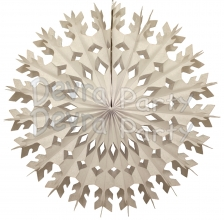 22 Inch White Tissue Paper Snowflake Decoration (12 pcs)