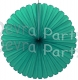 27 Inch Teal Deluxe Fan Decorations (12 pcs)