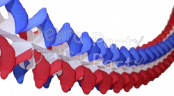 12 Foot Patriotic Cross Garland Decoration (12 pcs)