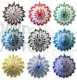 19 Inch Dip-Dyed Tissue Paper Snowflakes (12 pcs)