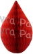 5 Inch Red Rain Drop Ornament Decoration (12 pcs)