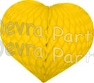 Heart Decoration 18 Inch Yellow (12 pcs)