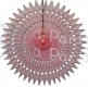 21 Inch Tissue Fan Pink (12 pcs)