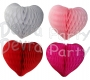 Mini 8 Inch Honeycomb Heart Decoration (12 Pieces)