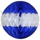 Dark Blue and White Honeycomb Tissue Paper Balls (12 pcs)