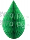 5 Inch Light Green Rain Drop Ornament Decoration (12 pcs)