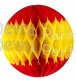 Red Yellow Red Honeycomb Tissue Paper Ball (12 pcs)