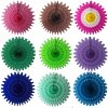 18 Inch Tissue Paper Fan (12 pcs)