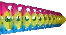 Full Tissue Garland Multi Colored (12 pcs)