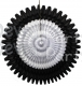 21 Inch Tissue Fan Black White (12 pcs)