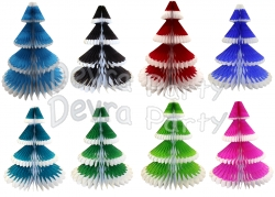 12 Inch Honeycomb Tissue Paper Frosted Tree (12 pcs)
