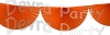 Orange 10 Foot Bunting Fan Garland (12 pcs)