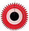 21 Inch Tissue Fan Red White Black (12 pcs)