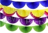 7 Foot Tissue Paper Bunting Fan Garland (12 Pieces) (NEW!)