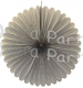 27 Inch Gray Tissue Paper Deluxe Fan (12 pcs)