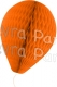 11 Inch Orange Paper Balloon Decoration (12 pieces)