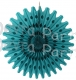 Teal 18 Inch Tissue Paper Fan (12 pcs)