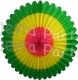 27 Inch Deluxe Fan Green Yellow Cerise (12 pcs)