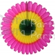 13 Inch Spring Cerise/Yellow/Green Fan Decorations (12 PCS)