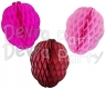 Honeycomb Raspberry Decoration, 13.5 Inches (12 pcs)