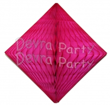 Cerise Hanging Diamond Decoration (12 pcs)