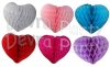 12 Inch Large Honeycomb Heart Decoration (12 pcs) - ALL COLORS