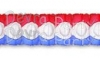 Patriotic Honeycomb Oval Garland (12 pcs)