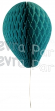 11 Inch Teal Paper Balloon Decoration (12 pieces)