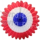 Patriotic Honeycomb Fanburst Red White Blue (12 pcs)