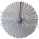 13 Inch Fan Decorations White (12 PCS)