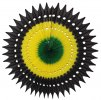 Jamaican Colors Tissue Fan Decoration 21 Inch (12 pcs)