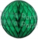 Dark Green Tissue Paper Ball (12 pcs)