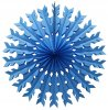 22 Inch Turquoise Tissue Paper Snowflake Decoration (12 pcs)