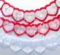 12 Foot Tissue Paper Heart Garland (6 pcs)