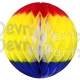 Back To School Red Yellow Blue Honeycomb Ball (12 pcs)