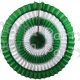 16 Inch Tissue Paper Striped Fan Green White (12 pcs)