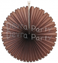 27 Inch Brown Deluxe Fan Decorations (12 pcs)