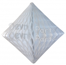 White Hanging Diamond Decoration (12 pcs)