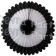 27 Inch Deluxe Fan Black White Black (12 pcs)