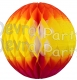 Orange/Yellow/Cerise Tissue Paper Balls (12 pcs)