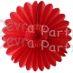 Red Fanburst Decoration (12 pcs)