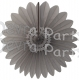 Hanging Fanburst Decoration Gray (12 pcs)