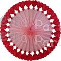 27 Inch Tissue Paper Heart Fan (12 pcs)