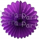 Purple Tissue Paper Fanburst Decoration (12 pcs)