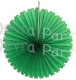 13 Inch Fan Decorations Dark Green (12 PCS)