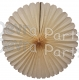 27 Inch Classic and Vintage Ivory Tissue Deluxe Fan (12 pcs)