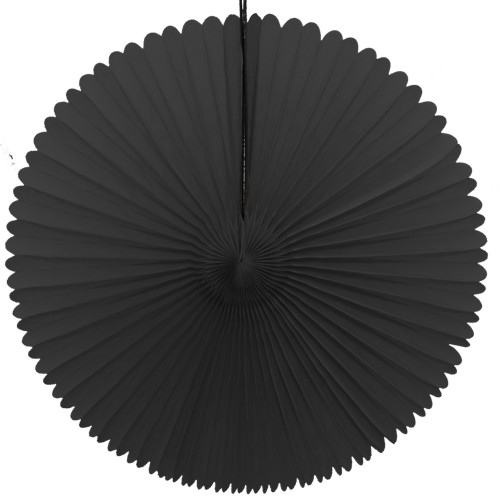 13 Inch Fan Decorations Black (12 PCS)