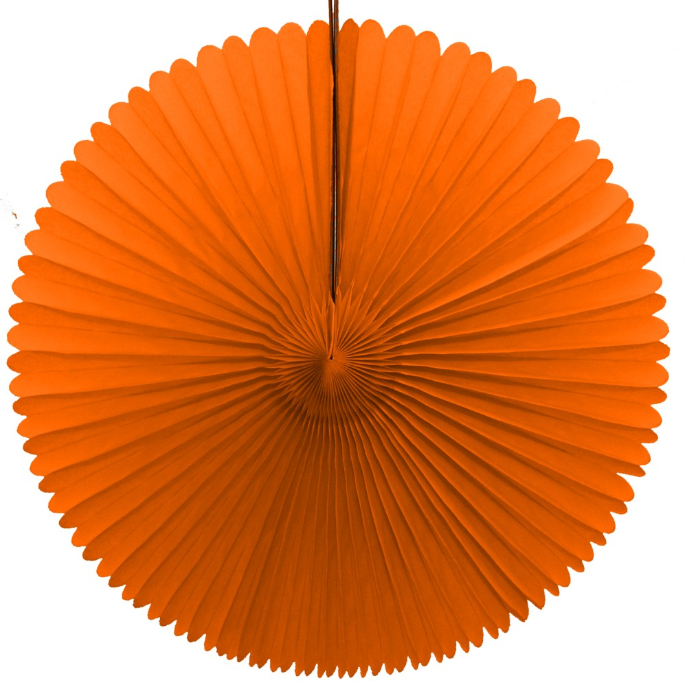13 Inch Fan Decorations Orange (12 PCS)