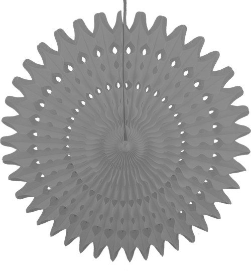 21 Inch Tissue Fan Gray (12 pcs)